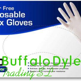 LATEX DISPOSABLE GLOVES POWDERED & POWDER FREE WHOLESALE